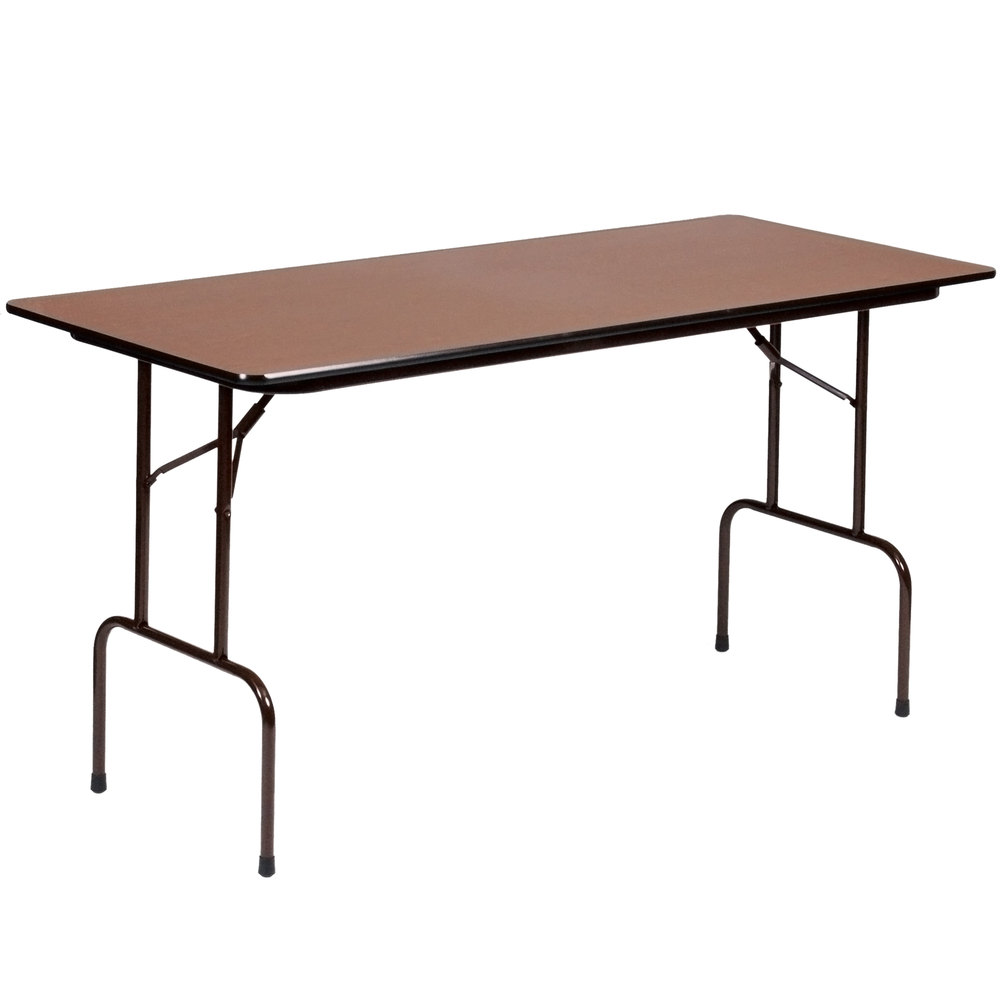 Correll CFS3072PX 01 High Pressure Laminate Top Standing Height Folding  Table Walnut 30 ...