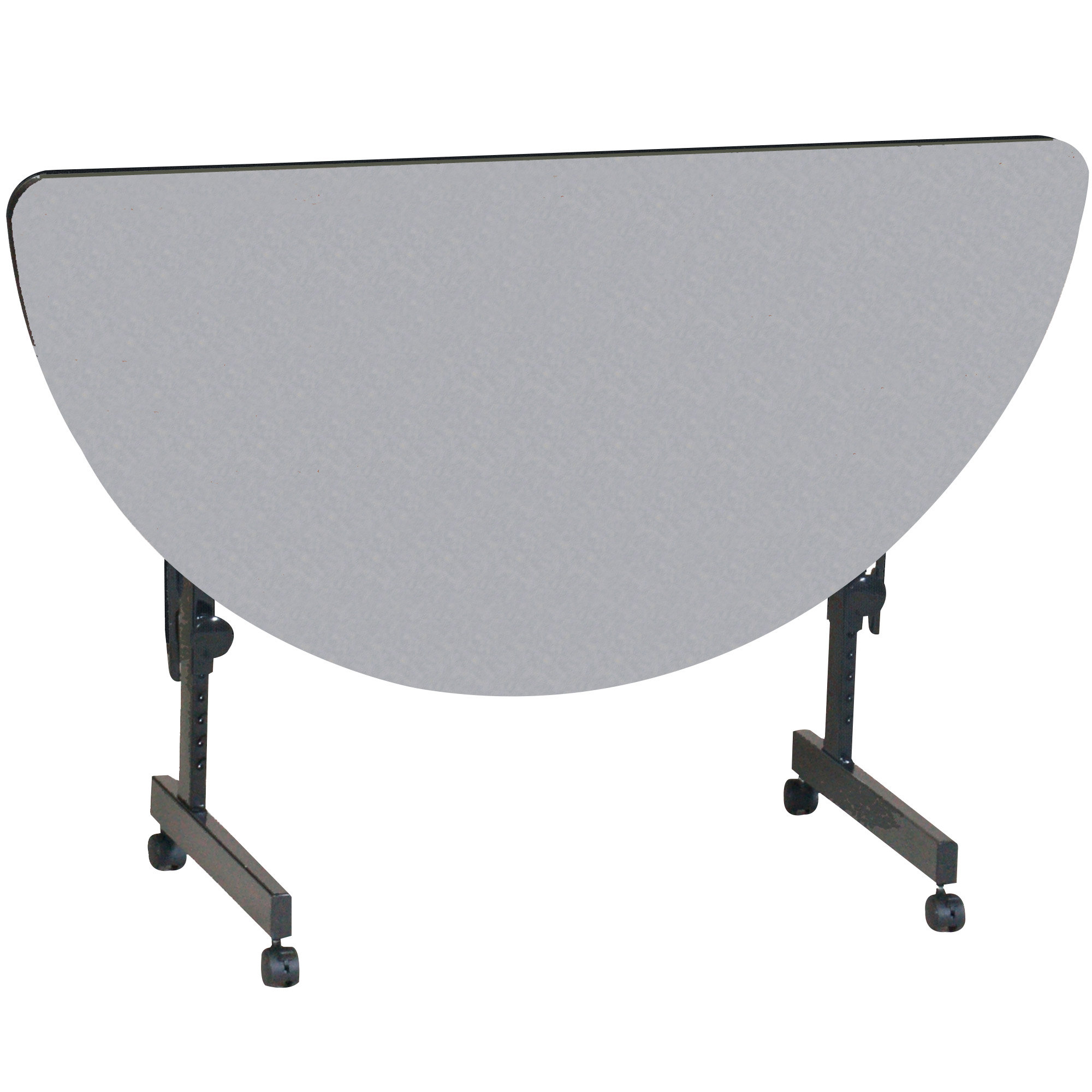 Correll Ft2448hr 15 High Pressure Laminate Half Round Flip Top Table Gray Granite 24 X 48 Correll Tables For Less