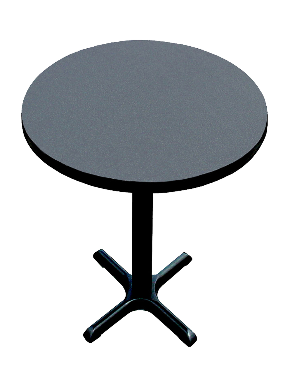Correll BXBR High Pressure Round Café And Breakroom Table Black - Standing cafe table