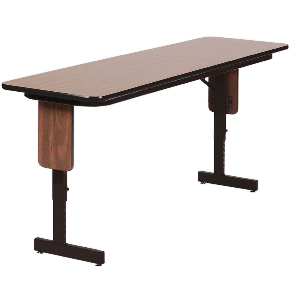 Charmant High Pressure Laminate Folding Table Adjustable Walnut