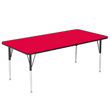 Bowery Hill 26 Rectangular Mobile Activity Table in Red