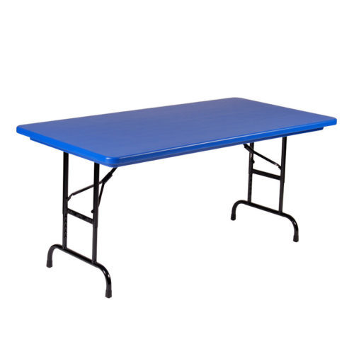 Correll RA3072 27 Heavy Duty Plastic Folding Table Blue 30 W X 72 L Adjustable  Height | Correll Tables For Less