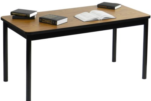 Correll LR3060 06 High Pressure Laminate Top Rectangle Library Table Medium  Oak 30 W X 60 L | Correll Tables For Less