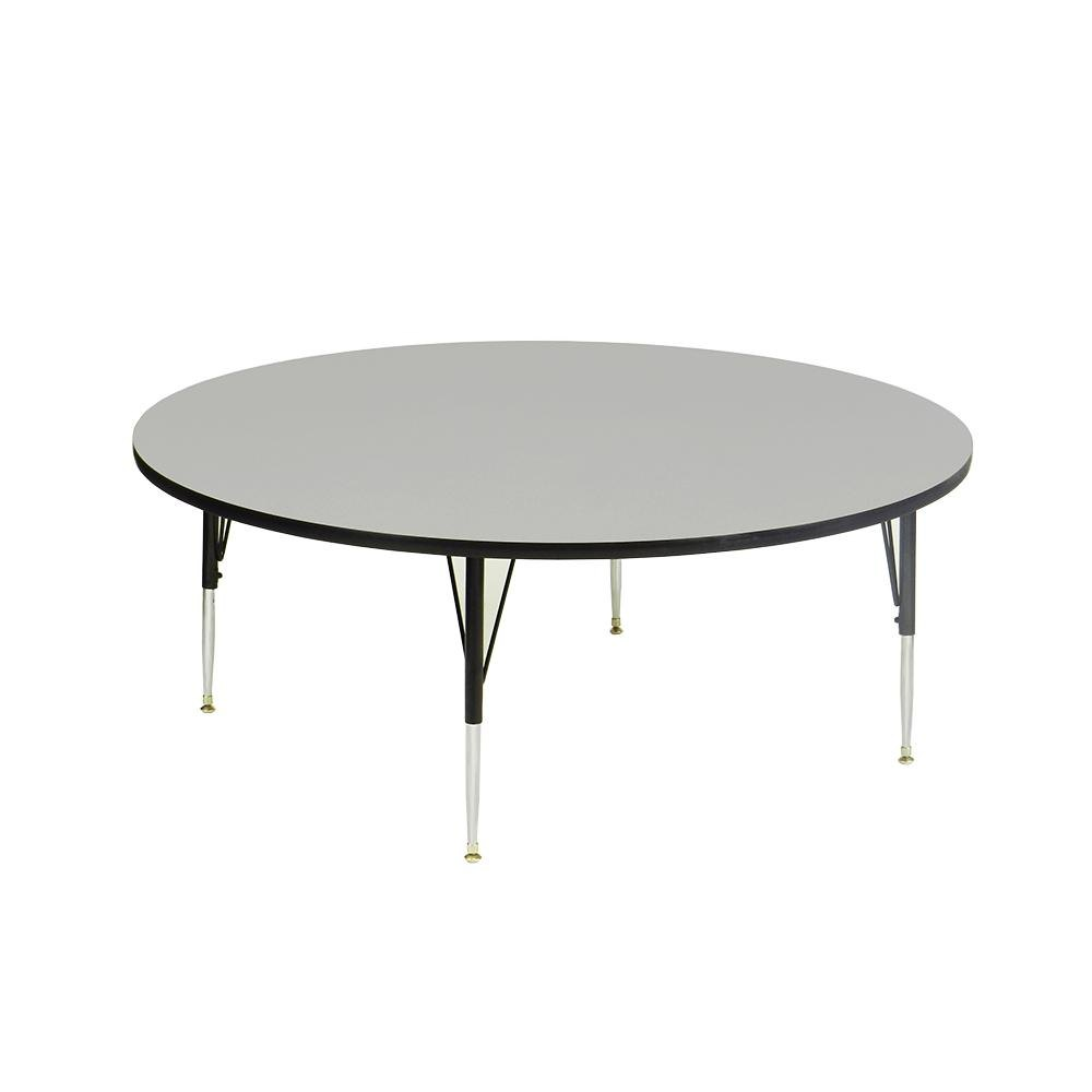 Adjustable Height Round Table.Correll A60 Rnd 15 High Pressure Round Shape Activity Table Gray Granite 60 W X 60 L Adjustable Height