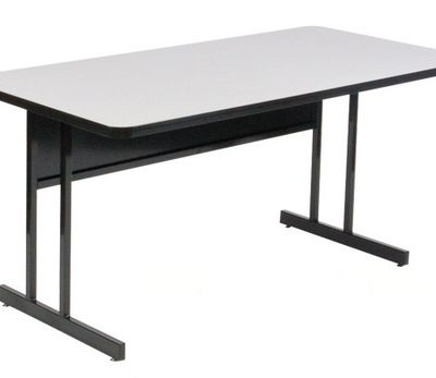 Correll CS2448M 15 EconoLine Melamine Computer And Training Table Keyboard  Height 24 X 48 Gray Granite