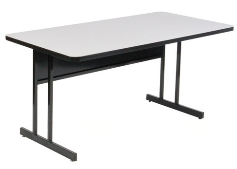 Correll CSM EconoLine Melamine Computer And Training Table - Granite conference table for sale