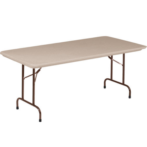Correll R3072 24 Heavy Duty Plastic Folding Table Mocha Granite 30 W X 72 L  Fixed Height | Correll Tables For Less
