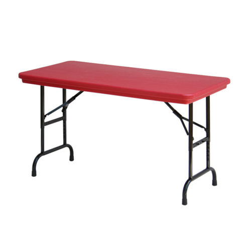 correll ra2448 25 heavy duty plastic folding table red 24 w x 48 l rh correlltablesforless com